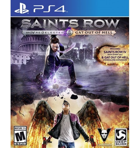 Saints Row IV Re-Elected + Gat Out Of Hell - Primeira Edição - PS4