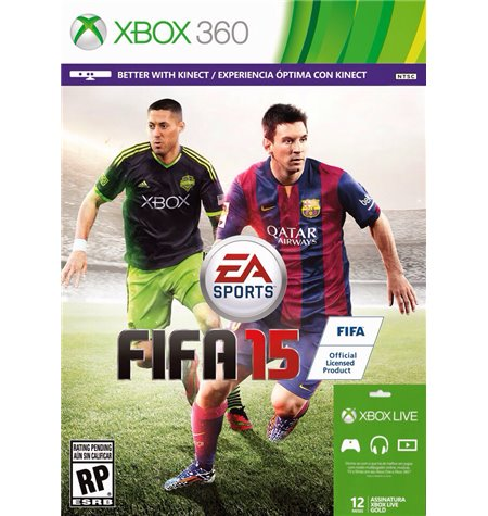 Fifa Soccer 15 + Xbox Live Gold 12 Meses - Xbox 360