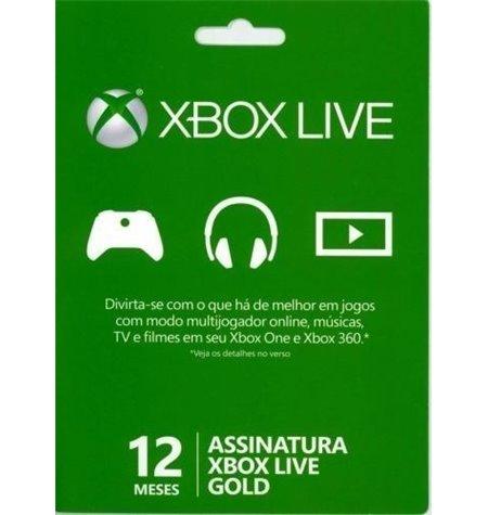 Assinatura Xbox Live Gold (3 Meses)